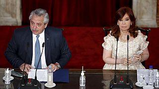 El presidente argentino, Alberto Fernández, y su vicepresidenta, Cristina Fernández de Kirchner