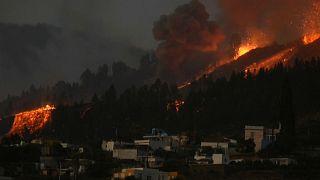 Zona afectada por la erupción del volcán Cumbre Vieja, 19/9/2021, La Palma