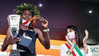 Kenyan athletes Kiprono, Lagat, win men's and women's Rome Marathon