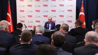 """Erdoğan (TASC) tarafından düzenlenen """"Daha Adil bir Dünya"""" adlı konferansında konuşma yaptı"""