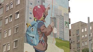 Falfestmény Csepelen