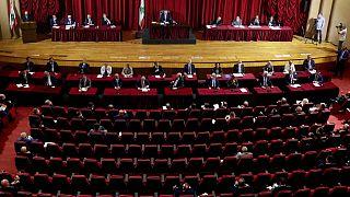المجلس النيابي اللبناني في قصر اليونسكو في بيروت، لبنان