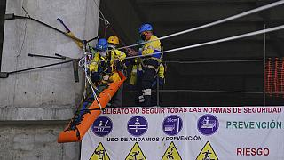 Prácticas de rescate de la Brigada Rotatoria en Ciudad de México