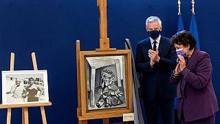 L'une des oeuvres de Pablo Picasso cédée par sa famille à la France, au musée Picasso de Paris. Bruno le Maire et Roseline Bachelot l'ont dévoilée.