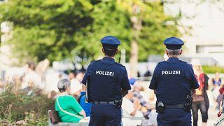 Polizisten in Erlangen, Deutschland, 17.08.2018