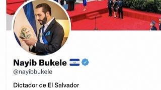 Captura de la biografía en Twitter de Nayib Bukele