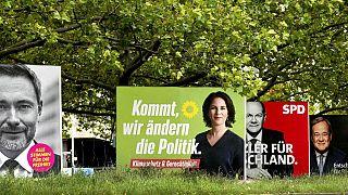 Plakate vor der Bundestagswahl in Deutschland
