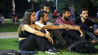 Yurtsuzlar Hareketi Moda Sahil'de yüksek kiralara karşı nöbette