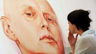 Lİtvinenko'nun Moskova'daki bir galeride sergilenen resmi