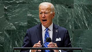 Presidente dos EUA durante o discurso na AG das Nações Unidas