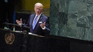 Joe Biden während seiner Rede