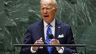 Joe Biden durante su discurso ante la Asamblea General de la ONU
