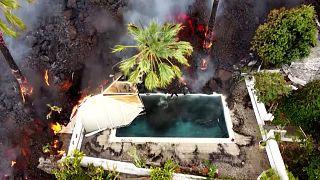 La Palma: eltűnnek a lakóházak a lávafolyam alatt