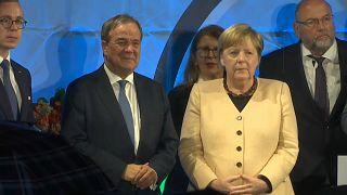 Angela Merkel und Armin Laschet in Stralsund