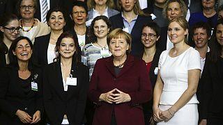 La chancelière après une conférence avec des femmes dirigeantes à Berlin, le 19 octobre 2016.