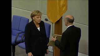 Angela Merkel il giorno del suo giuramento