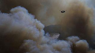 Muğla'nın Köyceğiz ilçesinde orman yangını. 9 Ağustos 2021