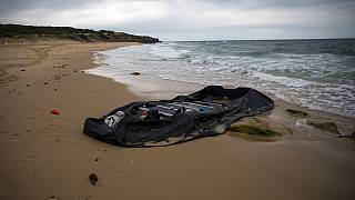 In this Thursday, June 28, 2018 file photo, a rubber dinghy used by Moroccan migrants is seen near Tarifa, in the south of Spain.