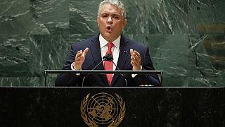 El presidente de Colombia, Iván Duque, en la Asamblea General de la ONU
