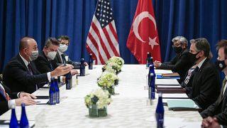 Dışişleri Bakanı Mevlüt Çavuşoğlu ABD'li mevkidaşı Antony Blinken'la görüştü
