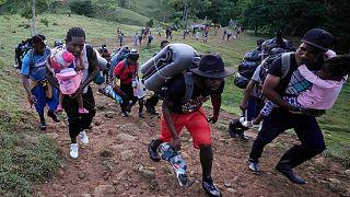 پناهجویان هائیتیایی که خواهان ورود به آمریکا هستند
