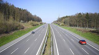 Autobahn A8 in Kirchheim Unter Treck, 4.4.2020