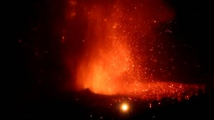 Volcano spews lava on Spanish island of La Palma
