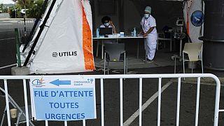 L'entrée de l'hôpital de Dumbea (Nouvelle-Calédonie, France), le 7 septembre dernier