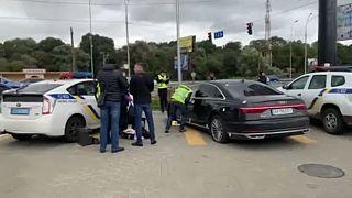 Το όχημα που δέχθηκε την ένοπλη επίθεση