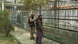 مقاتلو طالبان في حديقة حيوان كابول.
