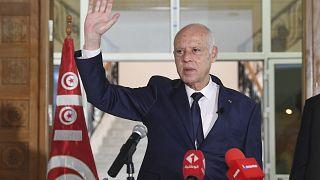 الرئيس التونسي قيس سعيّد.
