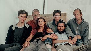 Berlin'de açlık grevindeki gençler