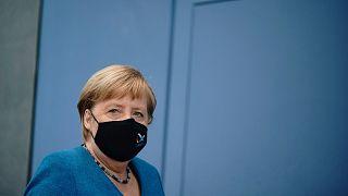 المستشارة الألمانية أنغيلا ميركل، برلين، ألمانيا، الجمعة 28 أغسطس 2020