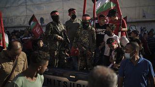 راهپیمایی حماس در نوار غزه