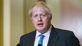 British Prime Minister Boris Johnson at the U.S. Capitol in Washington, Sept. 22, 2021.
