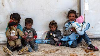 أطفال في مخيم الهول شمال شرق سوريا. 18/03/2021