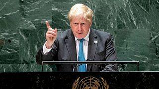 بوریس جانسون، نخست وزیر بریتانیا در مجمع عمومی سازمان ملل سخنرانی کرد