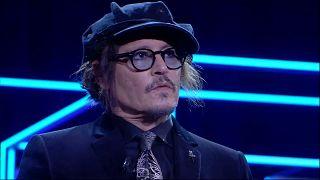Johnny Depp en la ceremonia de entrega del premio Donostia