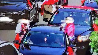 Laigneville Belediye Başkanının paylaştığı konvoy fotoğrafı