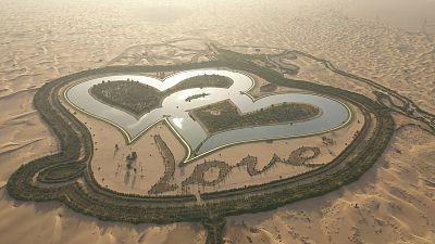 An oasis among the dunes: Dubai's desert lakes