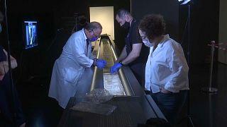 Un parchemin médiéval au Musée d'Israël
