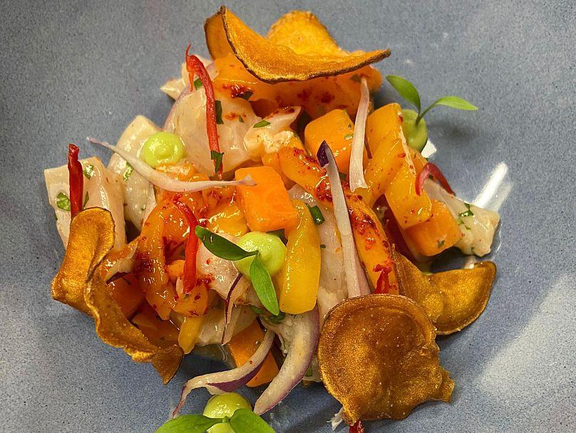 Chef Andrés Sandoval's Caribbean Ceviche with mango recipe | The Kitchen