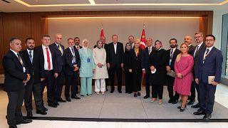 Cumhurbaşkanı Erdoğan gazetecilerle