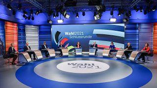 Spitzenpolitiker bei der Schlussrunde