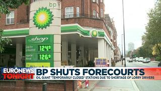 BP petrol station in London