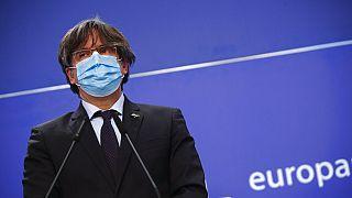 Carles Puigdemont en el Parlamento Europeo, Bruselas, Bélgica, 9/3/2021