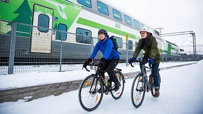 Cycling and public transport are what residents use to get around most in Lahti, Finland.