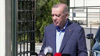 Türkiye Cumhurbaşkanı Recep Tayyip Erdoğan.