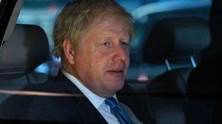 رئيس الوزراء البريطاني بوريس جونسون يغادر نزلا في نيويورك. 2019/09/24