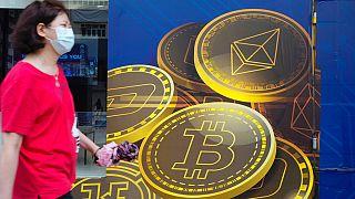 Bitcoin-reklám Hogkongban
